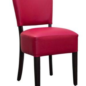 stol i rød læder