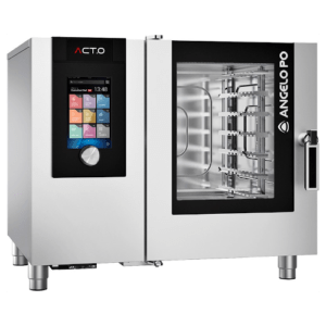 ACT.O GAS COMBI OVEN 6X1/1 GN WITH RIGHT-HAND DOOR OPENING - Angelo PO AT61GR